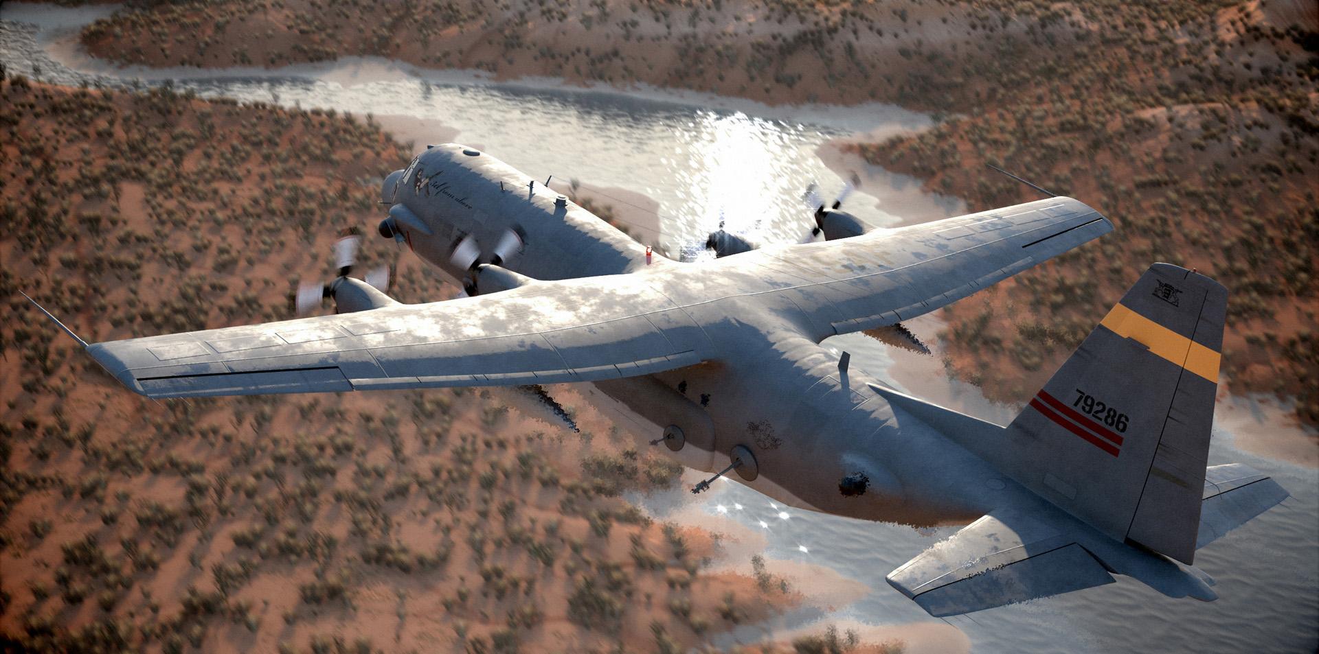 AC-130 CGI landing