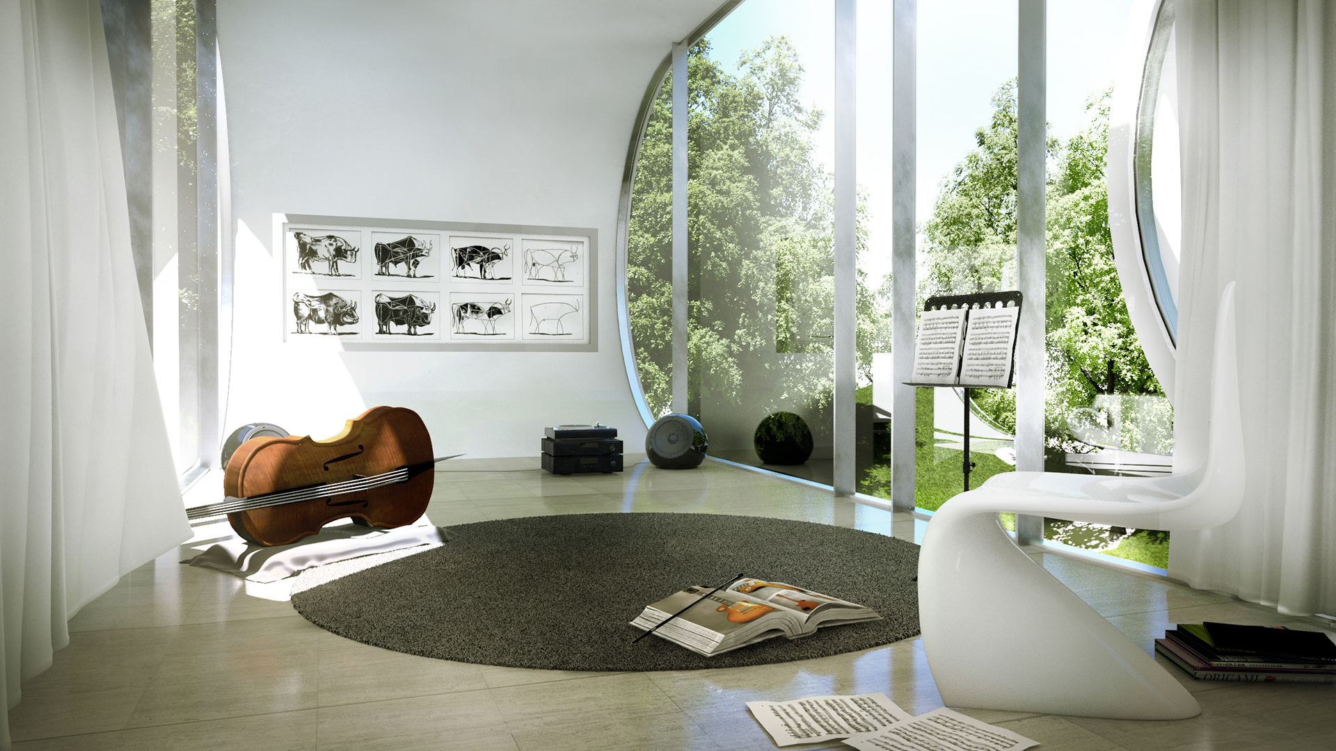 musicroom weekend retreat curvhouse by xoio