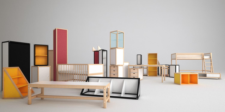 Catalogue Illustration Flötotto Furniture - Productvisualisation