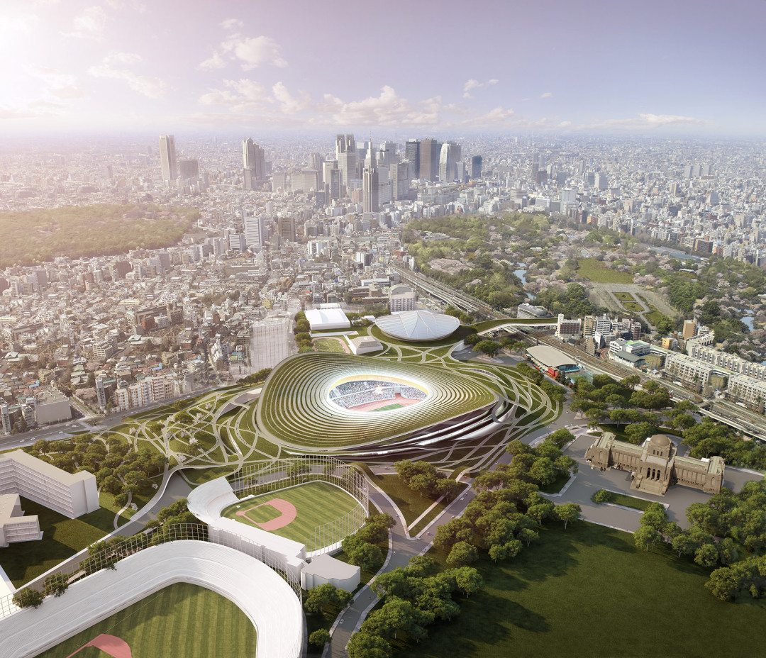 GMP  Stadion Tokyo Vogelperspektive