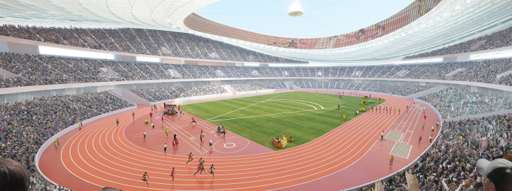Stadion Visualisierung Interior