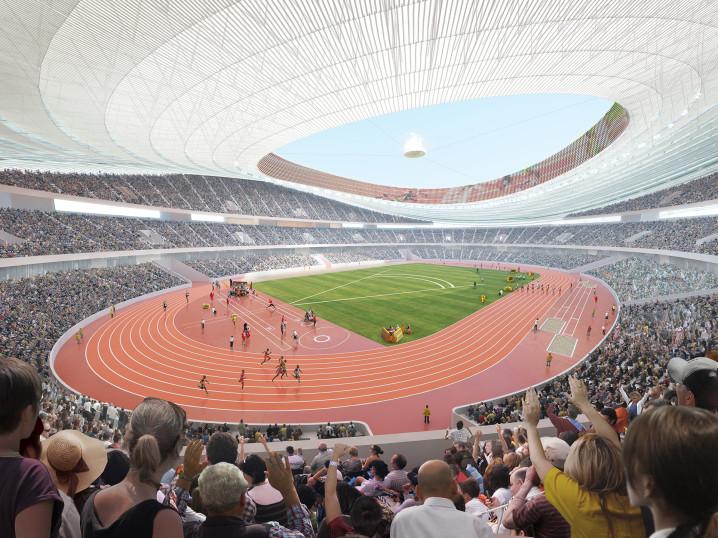 GMP Stadion Visualisierung Interior