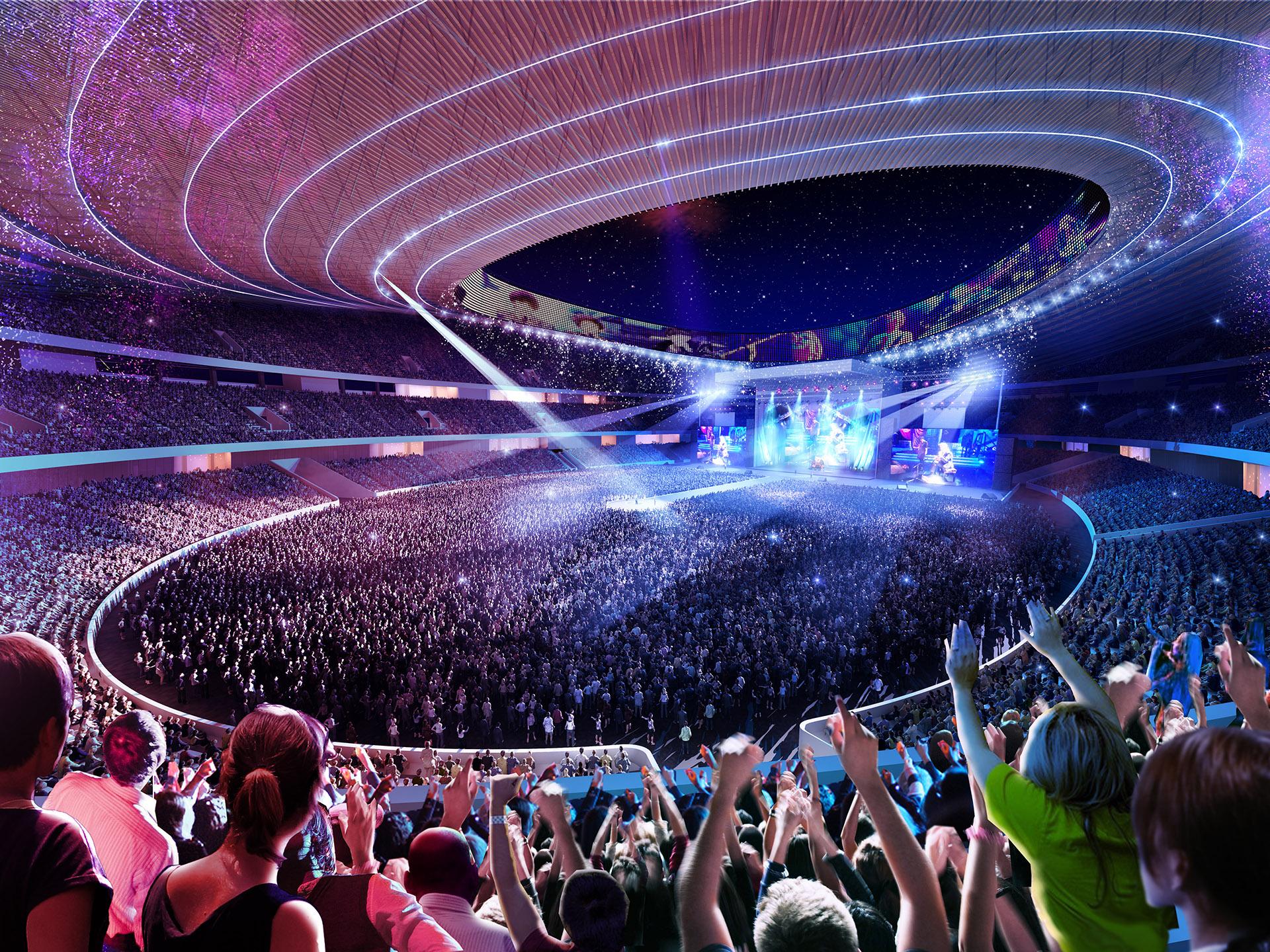 Stadion Visualisierung Concert