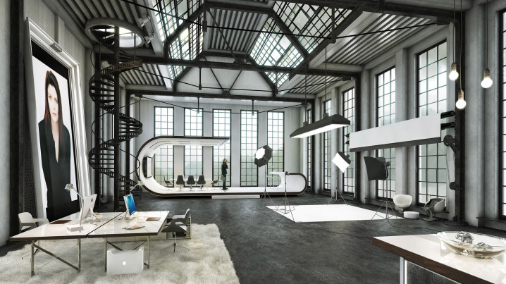 New York Loft Virtuelles Set Heroshot by xoio
