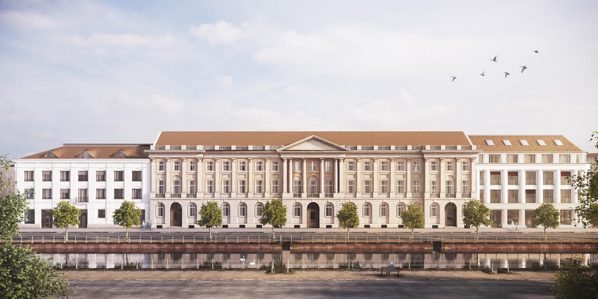 Außenvisualisierung Hauptfassade Brockessches Palais