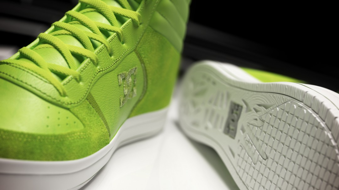 Produktvisualisierung Schuh DC Sneaker Detail A