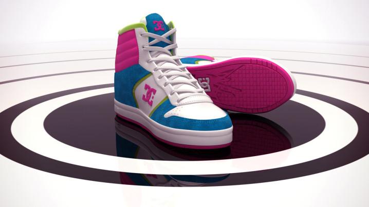 Produktvisualisierung Schuh DC Sneaker Alternatives Farbkonzept