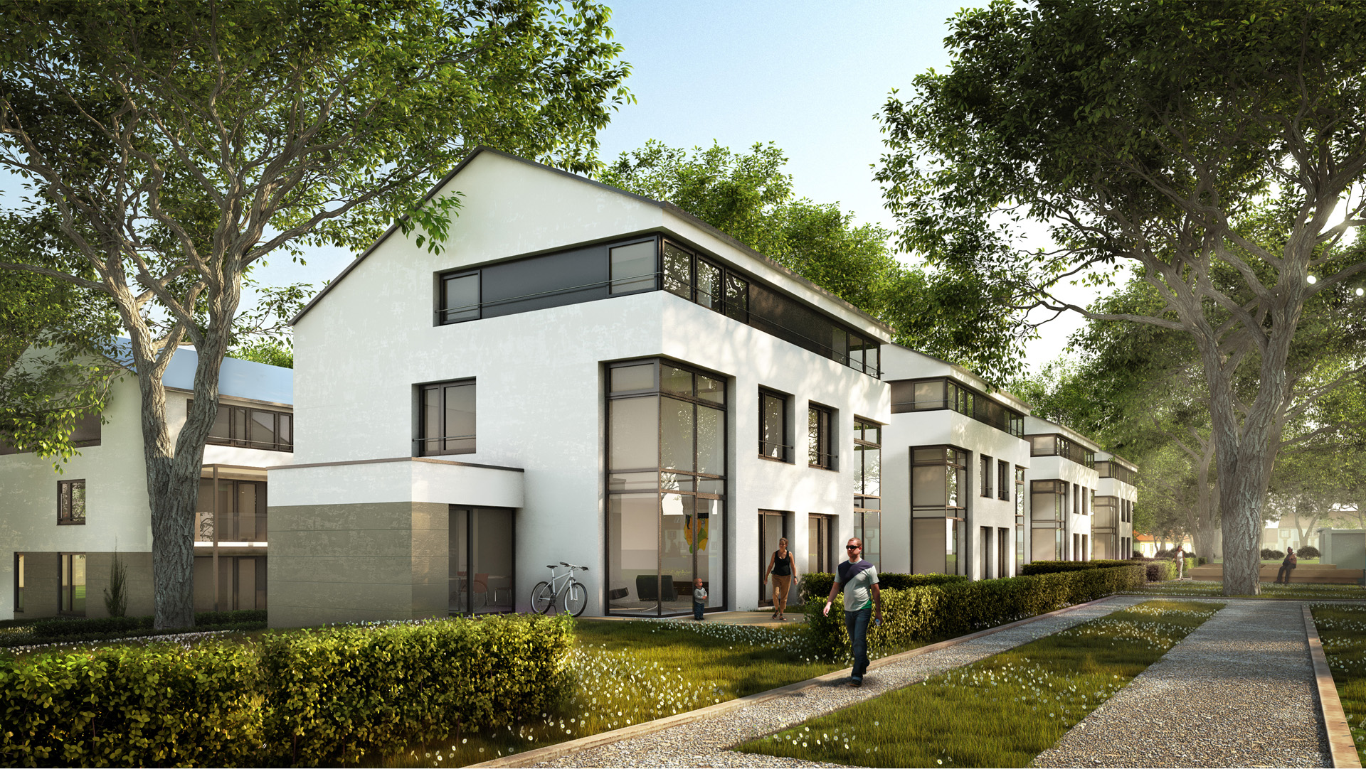 Visualisierung Architektur illustrationen architektur + landschaft - rohrer höhe - xoio