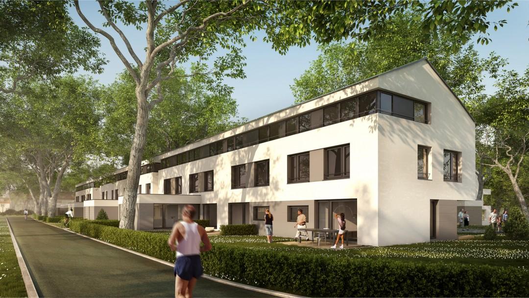 Rohrer Hoehe_Architekturvisualisierung_Reihenhaus_Tag_by_xoio