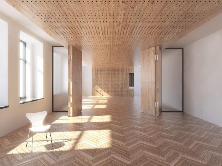 Visualisierung Schule St Gallen Klassenzimmer