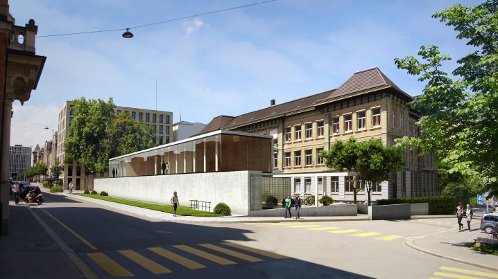 Visualisierung Schule St Gallen Aussenraum