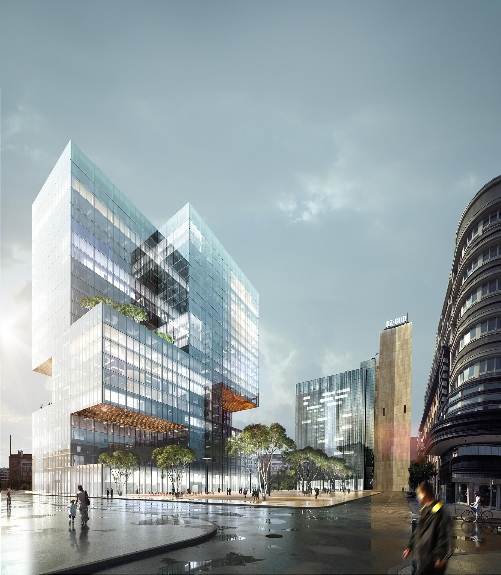 Berlin highriser axel springer media group xoio for Innenraum design berlin
