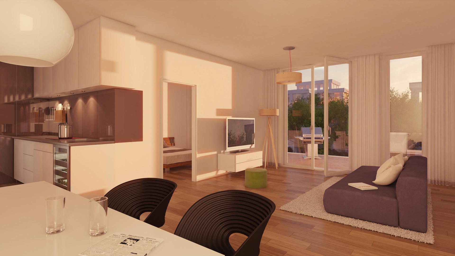Innenraumvisualisierung Appartement