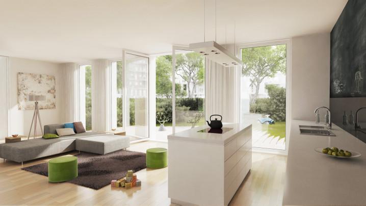 Innenraumvisualisierung Gartenhaus