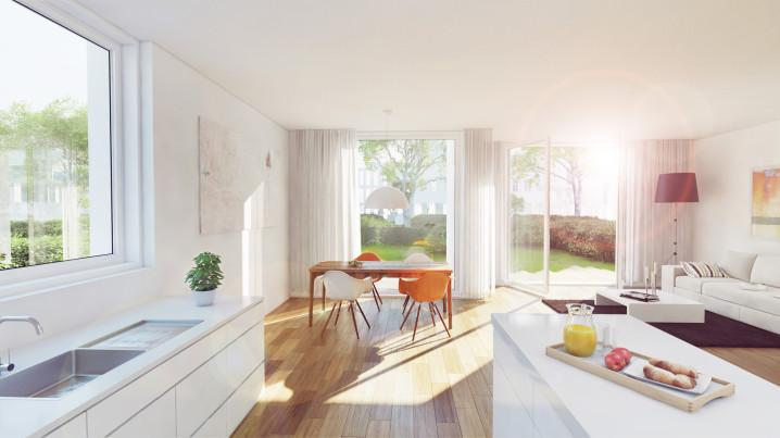 Innenraumvisualisieurng Gartenhaus