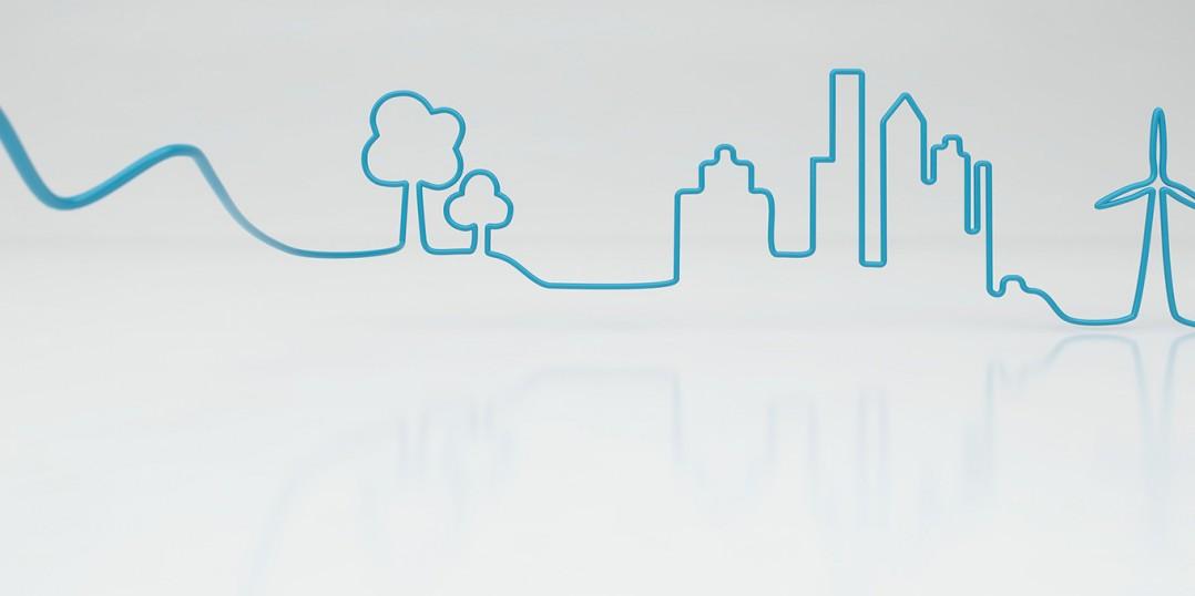 VW Emobilty 3d illustration - Landscape