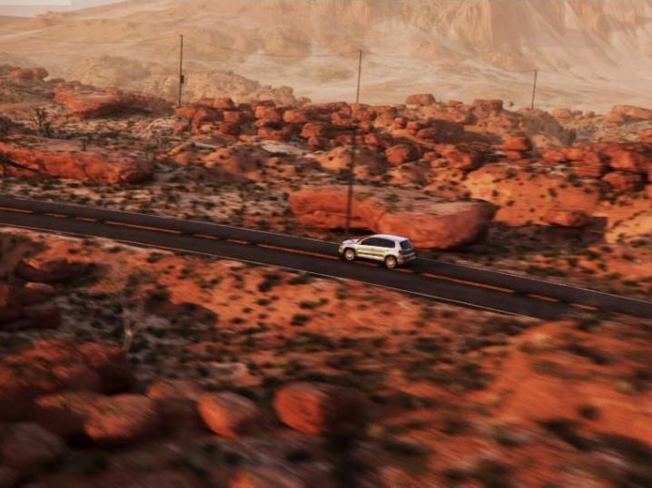 Desert scenery Volkswagen by xoio