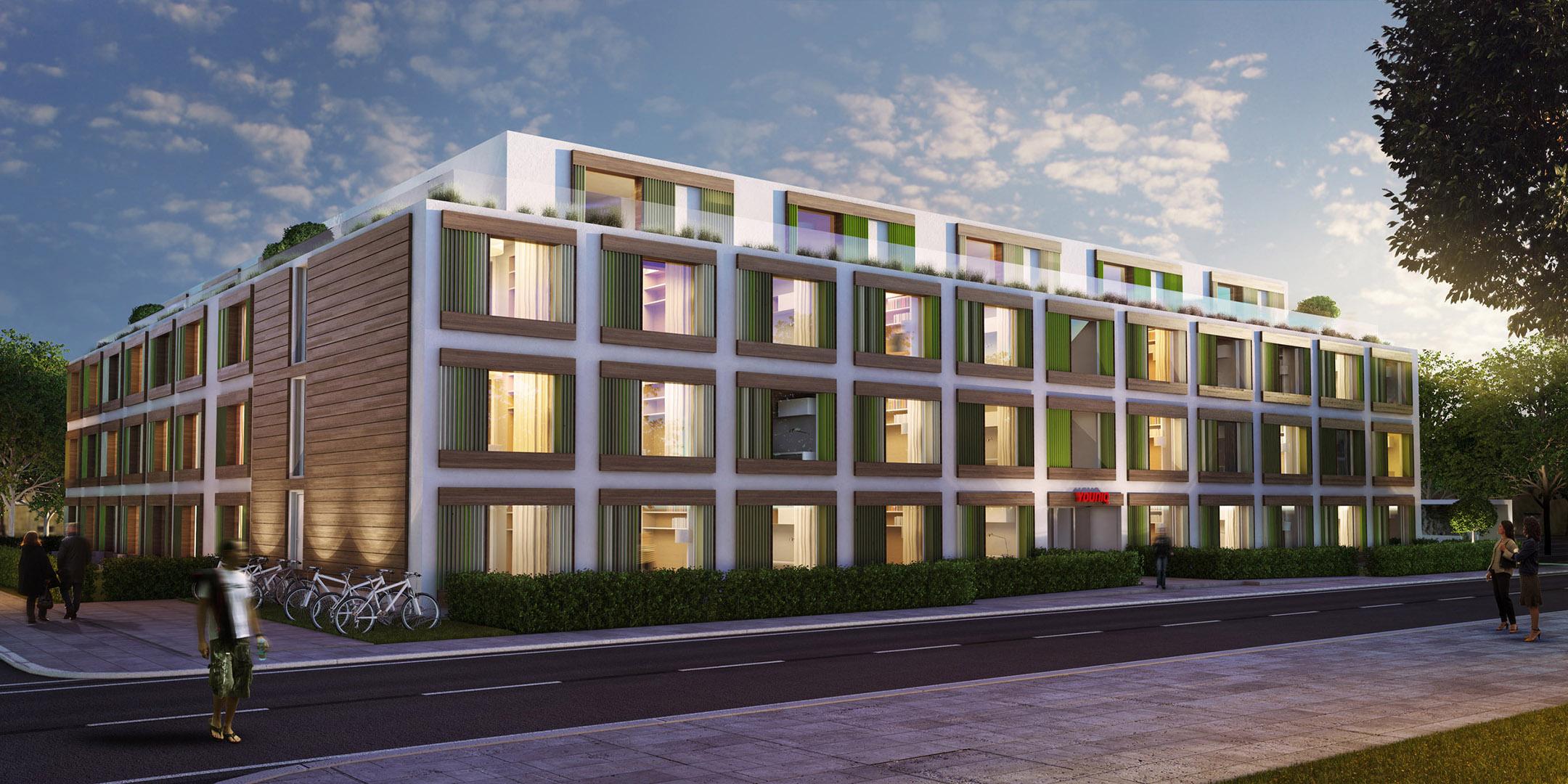 Exterior student housing