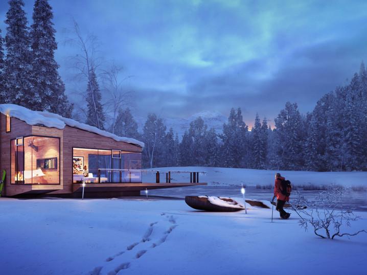 winter cottage - full illustration