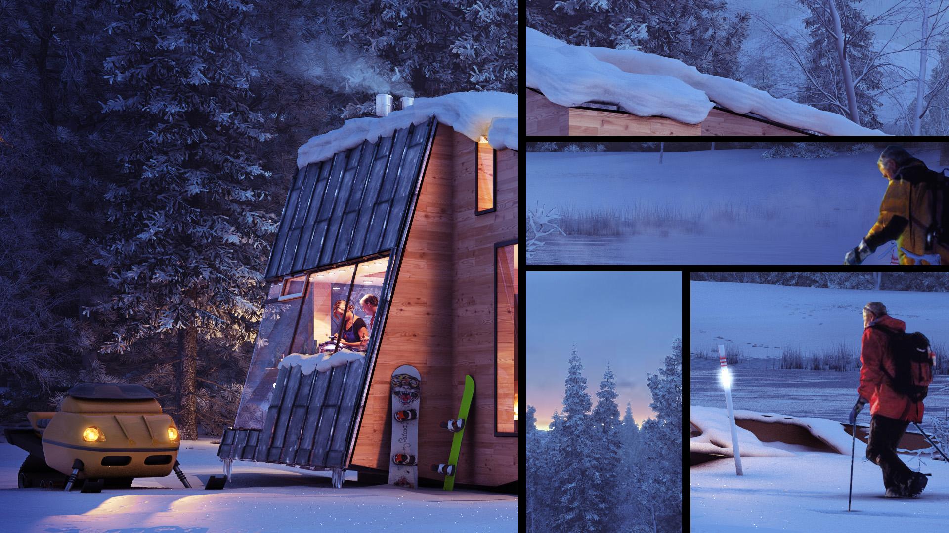 winter cottage details