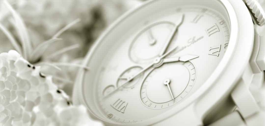 Chronograph 3d illustration - Ambient Occlusion