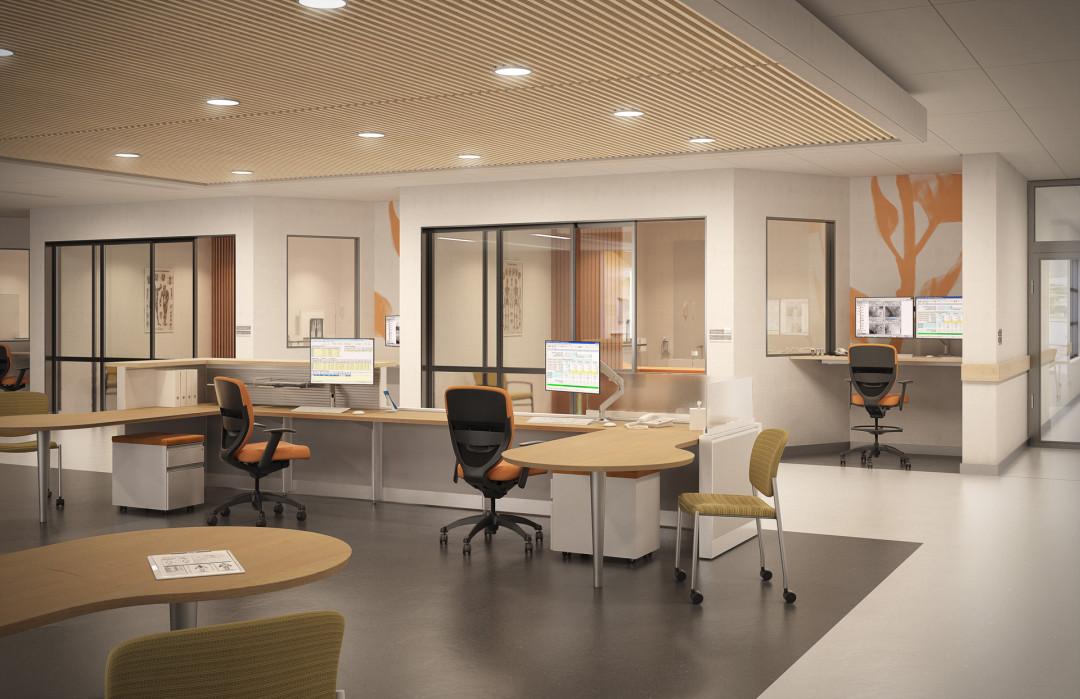 healthcare environment: nurse station