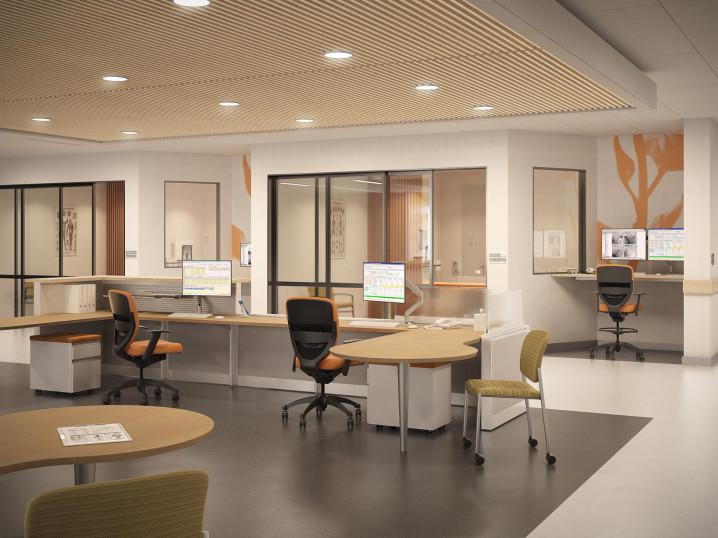 healthcare environment: nurse station