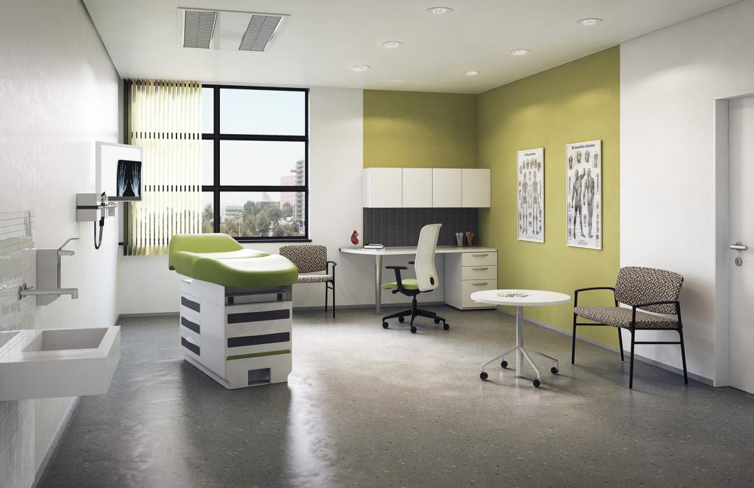 healthcare environment: exam room