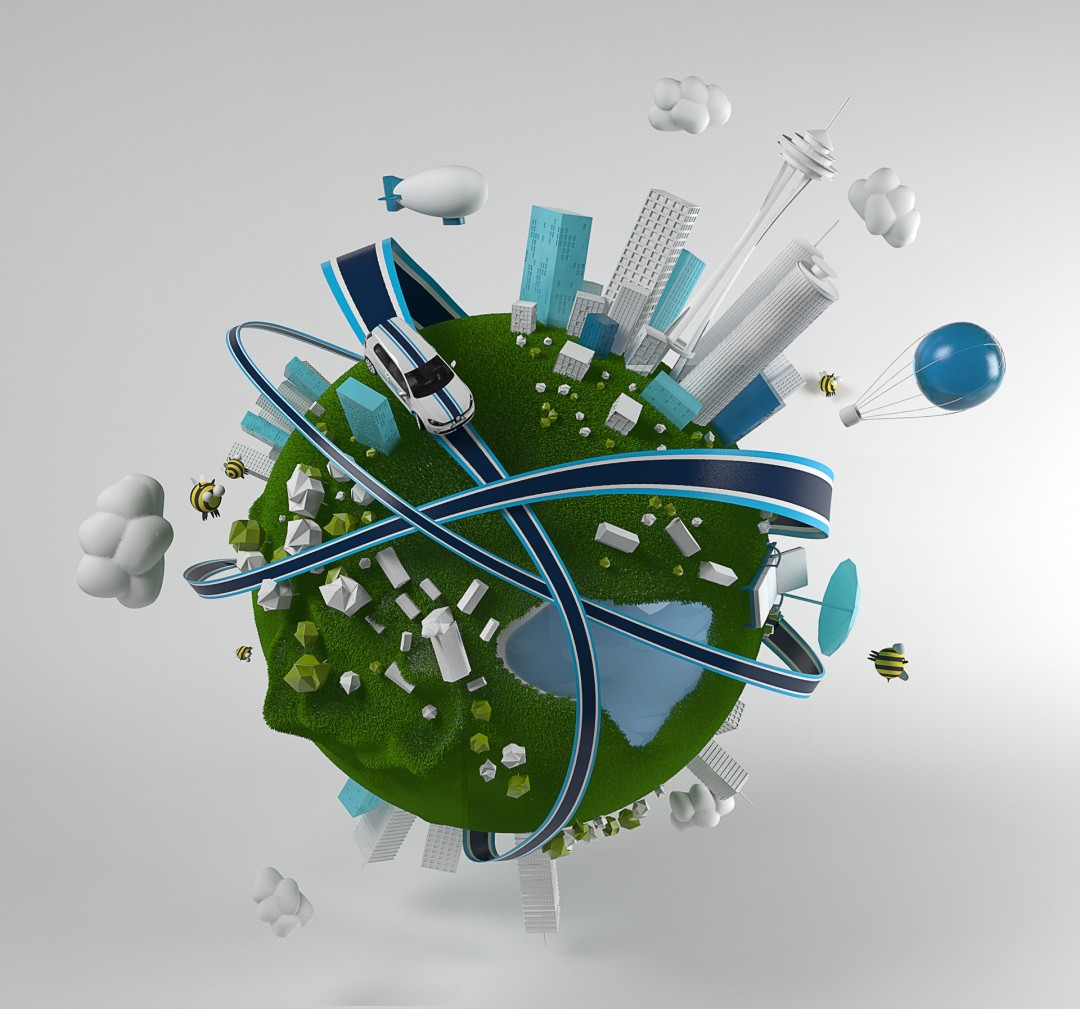 VW Illustration Quicar - World