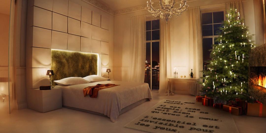 Hotel Suite Interior - Xmas