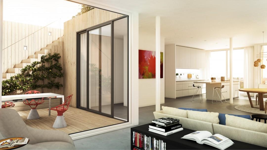 Stofanel Innenraum Illustration - Penthouse