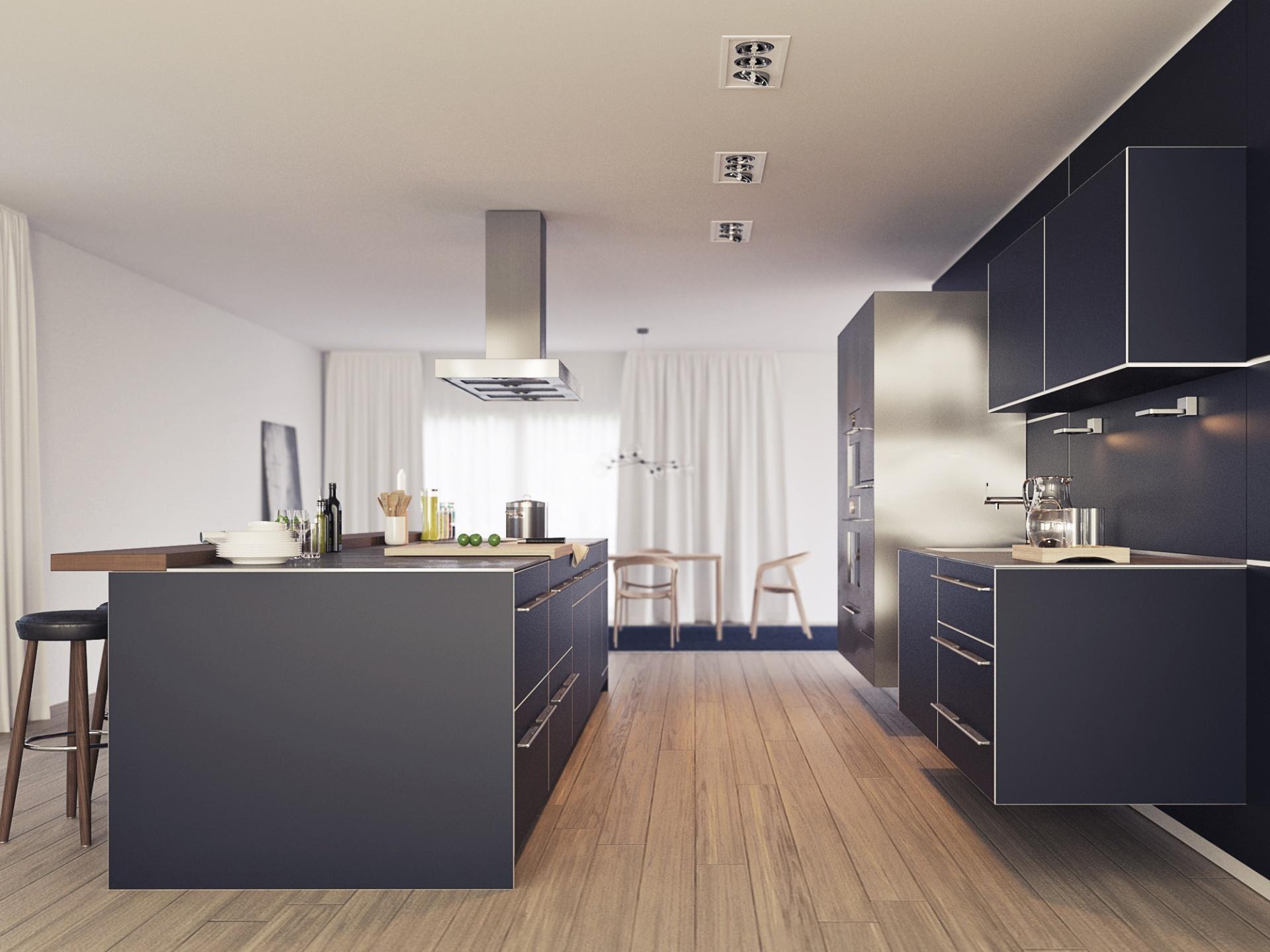 3d visualisierung k chenstudie xoio. Black Bedroom Furniture Sets. Home Design Ideas