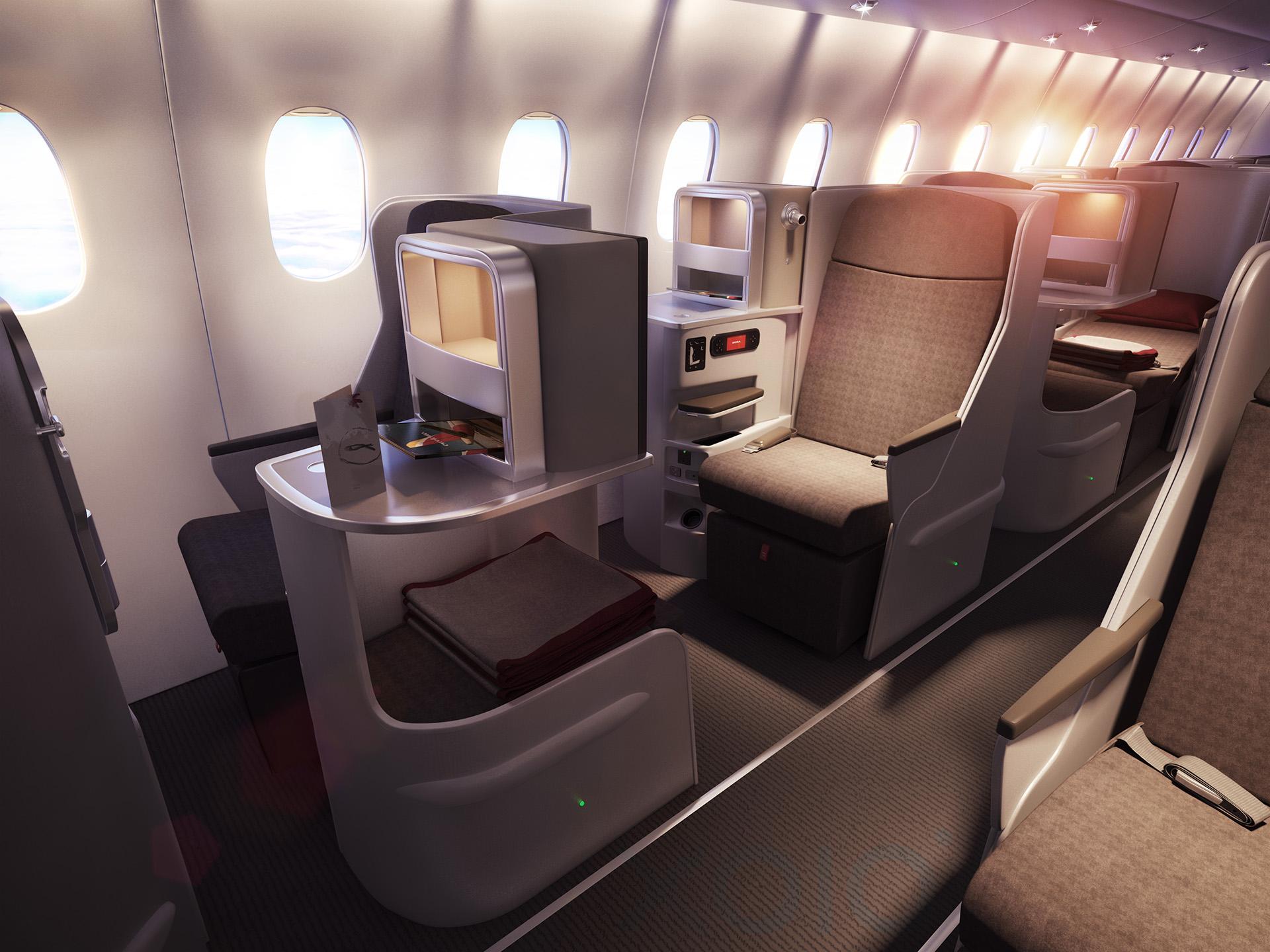 Iberia Airlines Interbrand Plane Illustrations