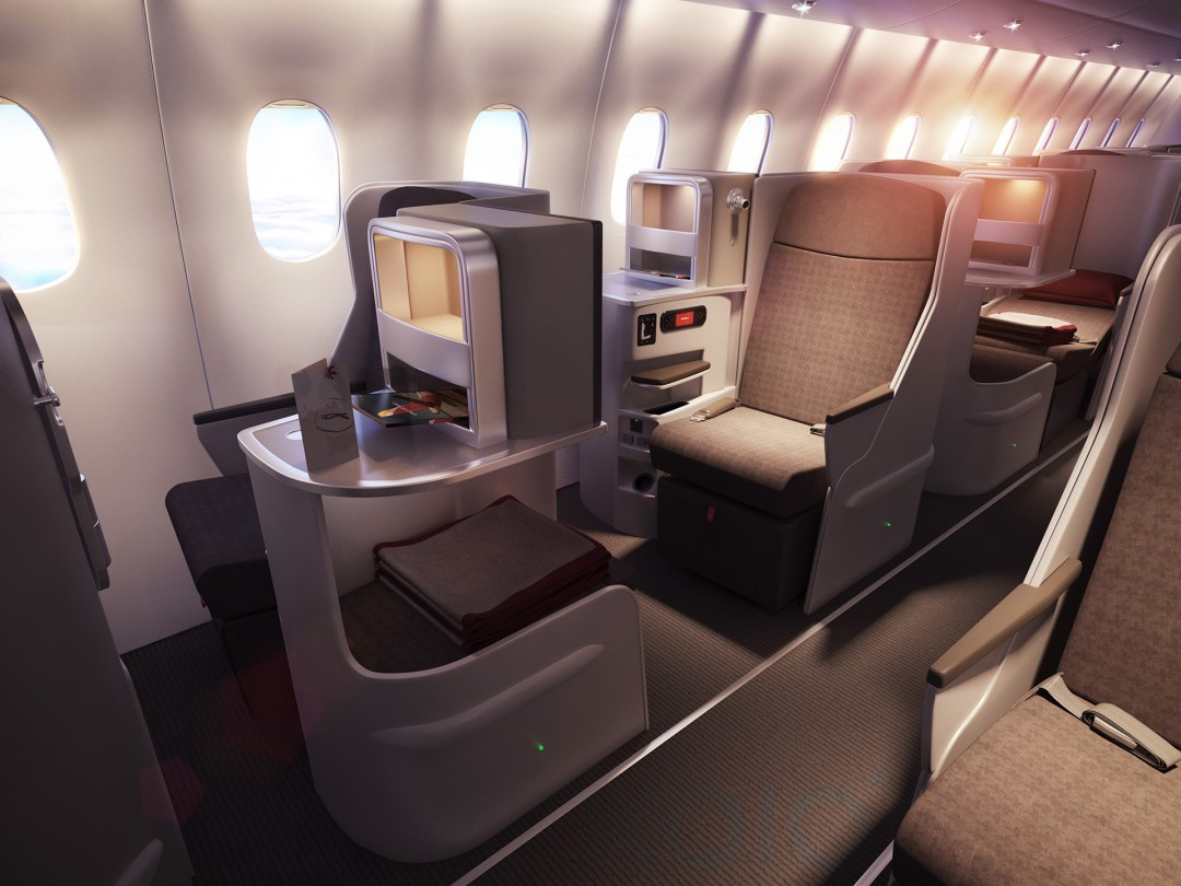 Airbus Illustration der neuen Business Class