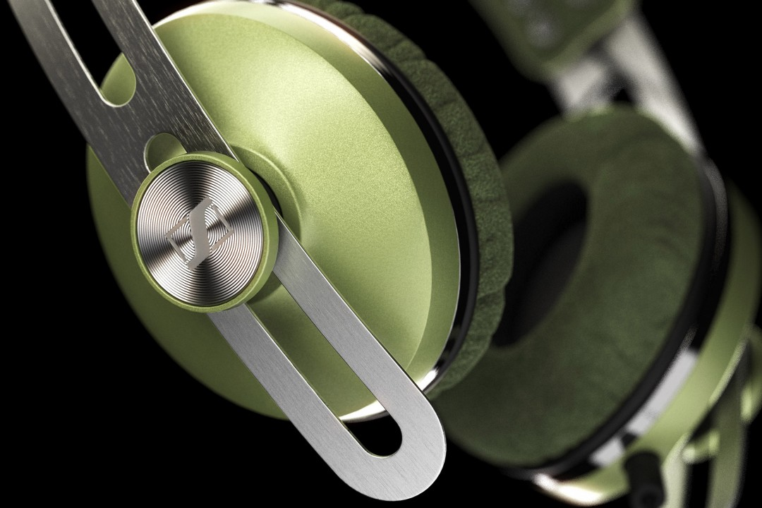 Closeup displaying details and shaders of the headphone