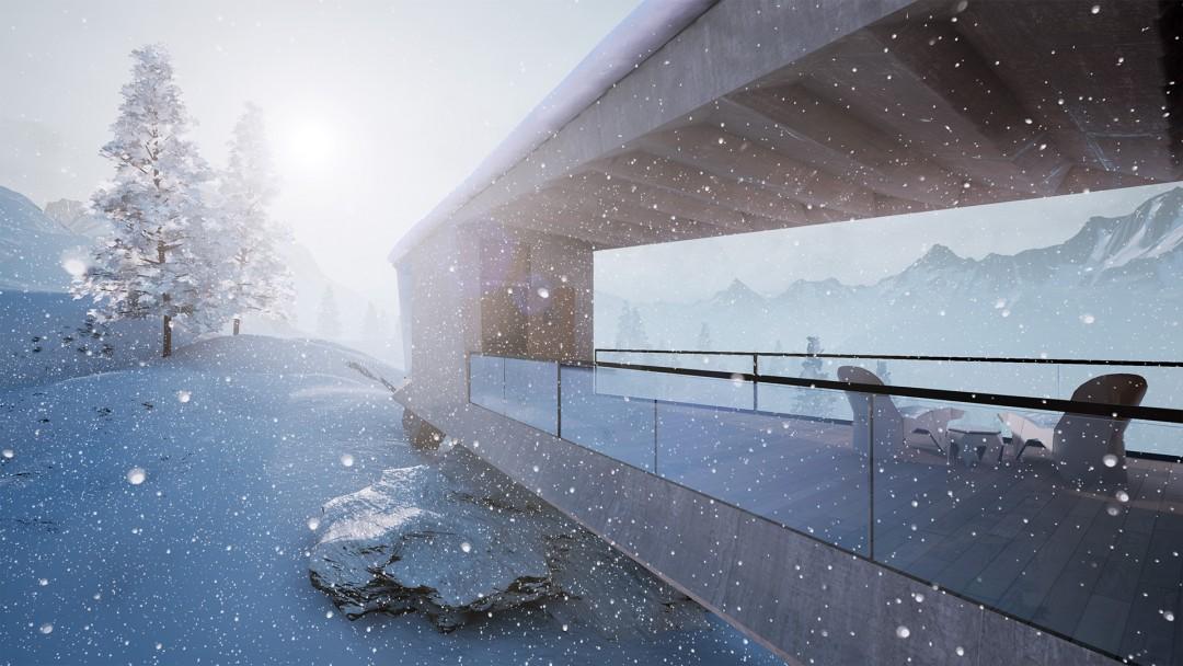 Winter_Chalet_The_bridge_by_xoio