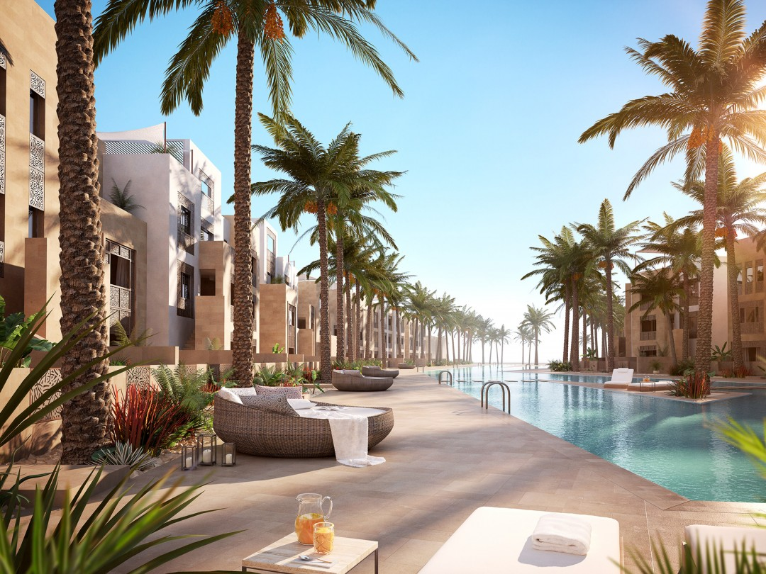 Mangroovy Beach Residences_Luxury Poolside Illustration by xoio