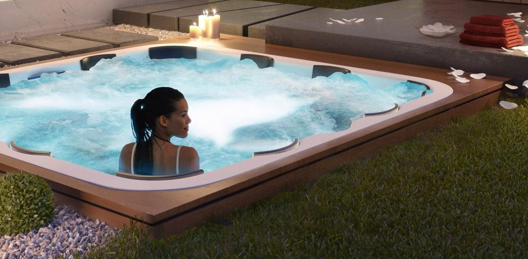 Oxygen Spa Villas - Closeup of jacuzzi detailing