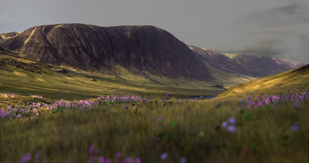 Die kilometerweite Landschaft lädt ein zu virtuellen Wanderungen :).