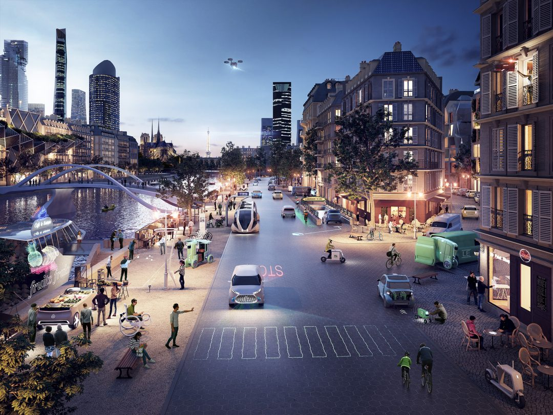 Daimler Nutzfahrzeuge - Zukunftsszenario Paris