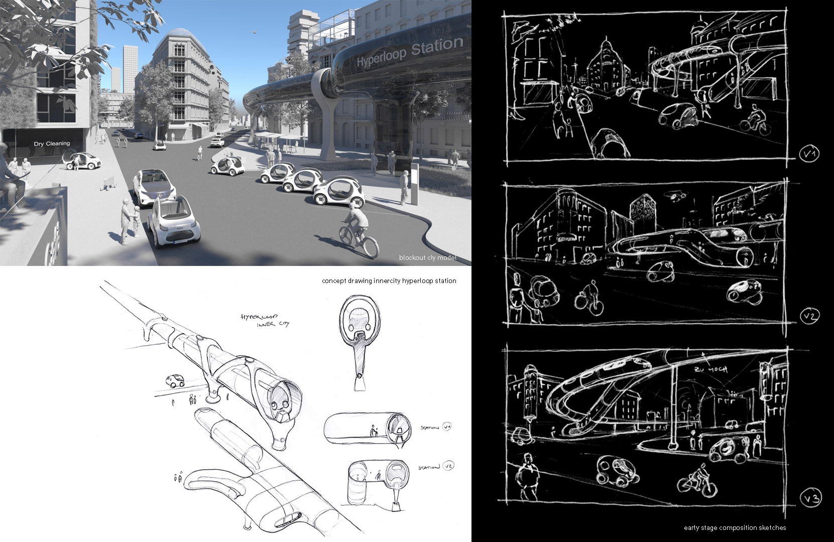 Smart Vision EQ - Urban Scenario - sketches and concept phase