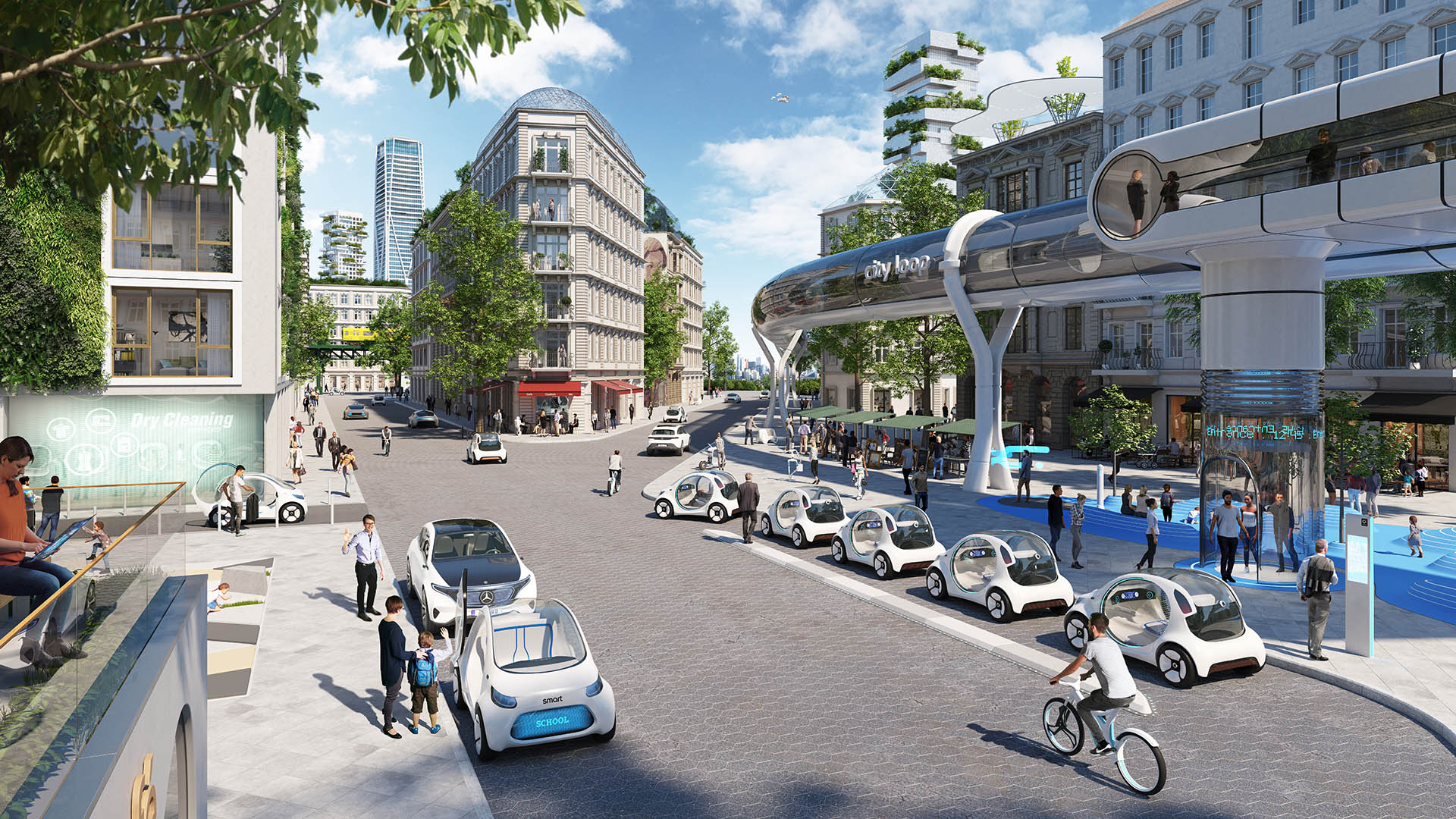 smart vision EQ fortwo - High Resolution Urban Scenario