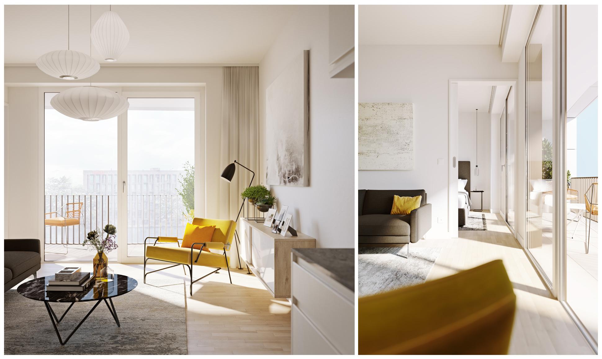 pure living berlin marketing visualization xoio. Black Bedroom Furniture Sets. Home Design Ideas