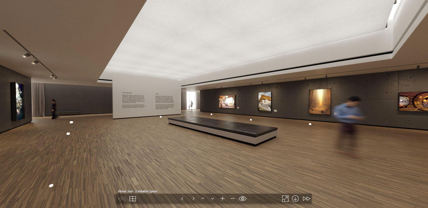 """virtuelle Galerie und Ausstellungsraum """"a place called home"""""""